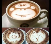 Latte coffee art Part 1