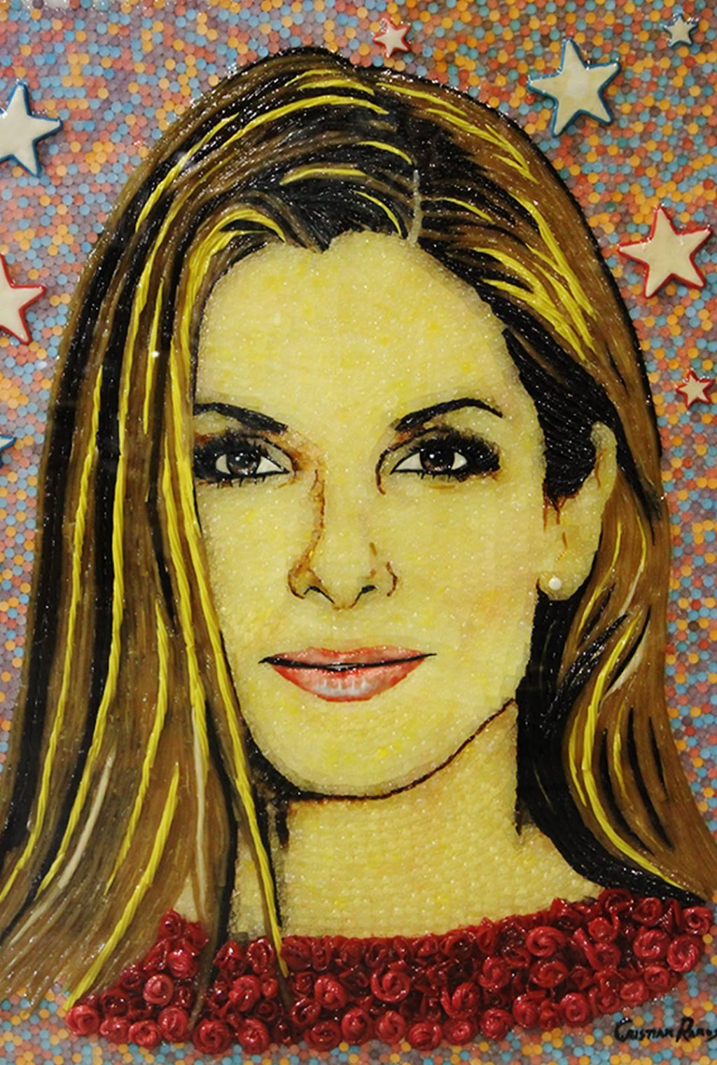 Celebrity Portraits made out of Sweet Candy